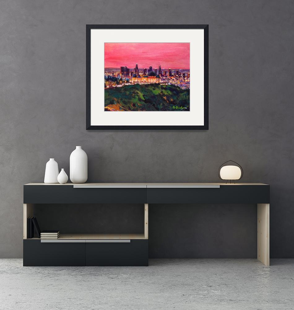 """""""Pink Los Angeles Sunrise at Griffith Park""""  (2020) by RDRiccoboni"""