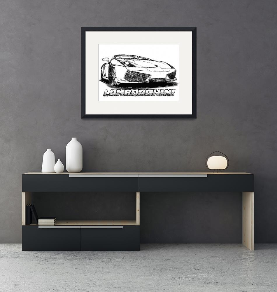"""Lamborghini line drawing""  (2012) by jt85"