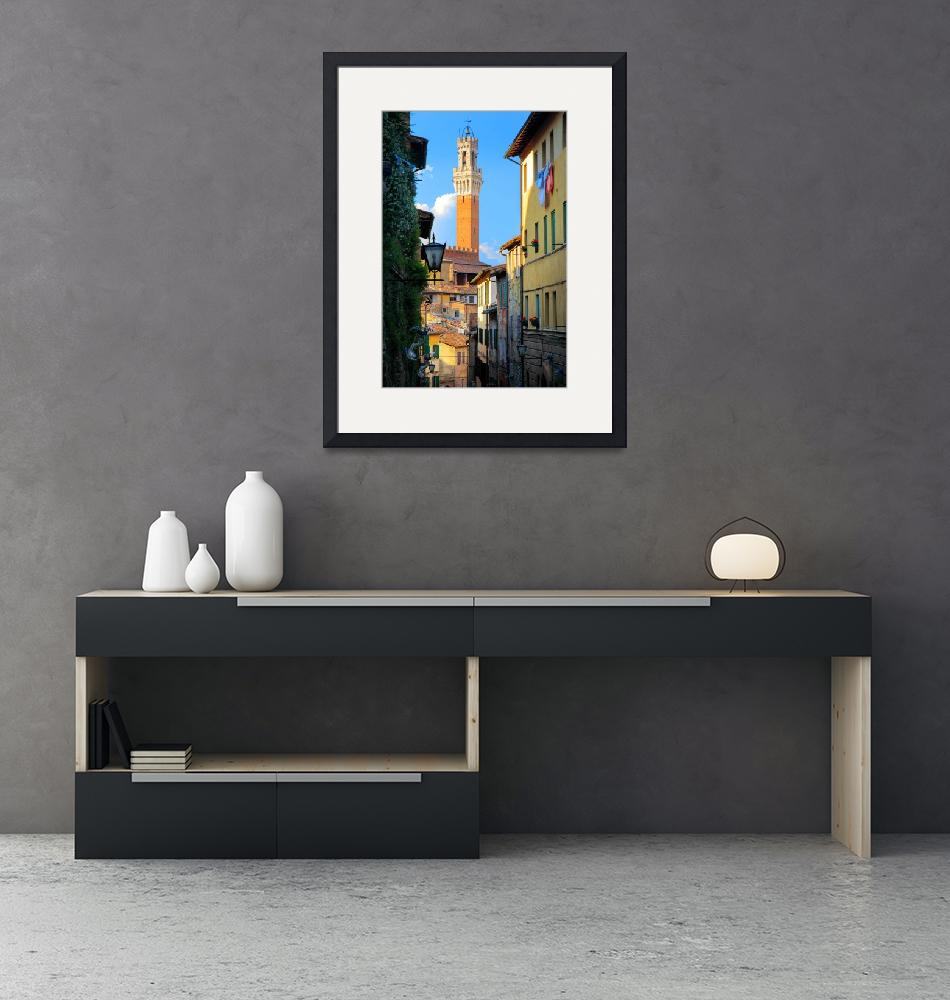 """Siena Streets""  (2010) by Inge-Johnsson"