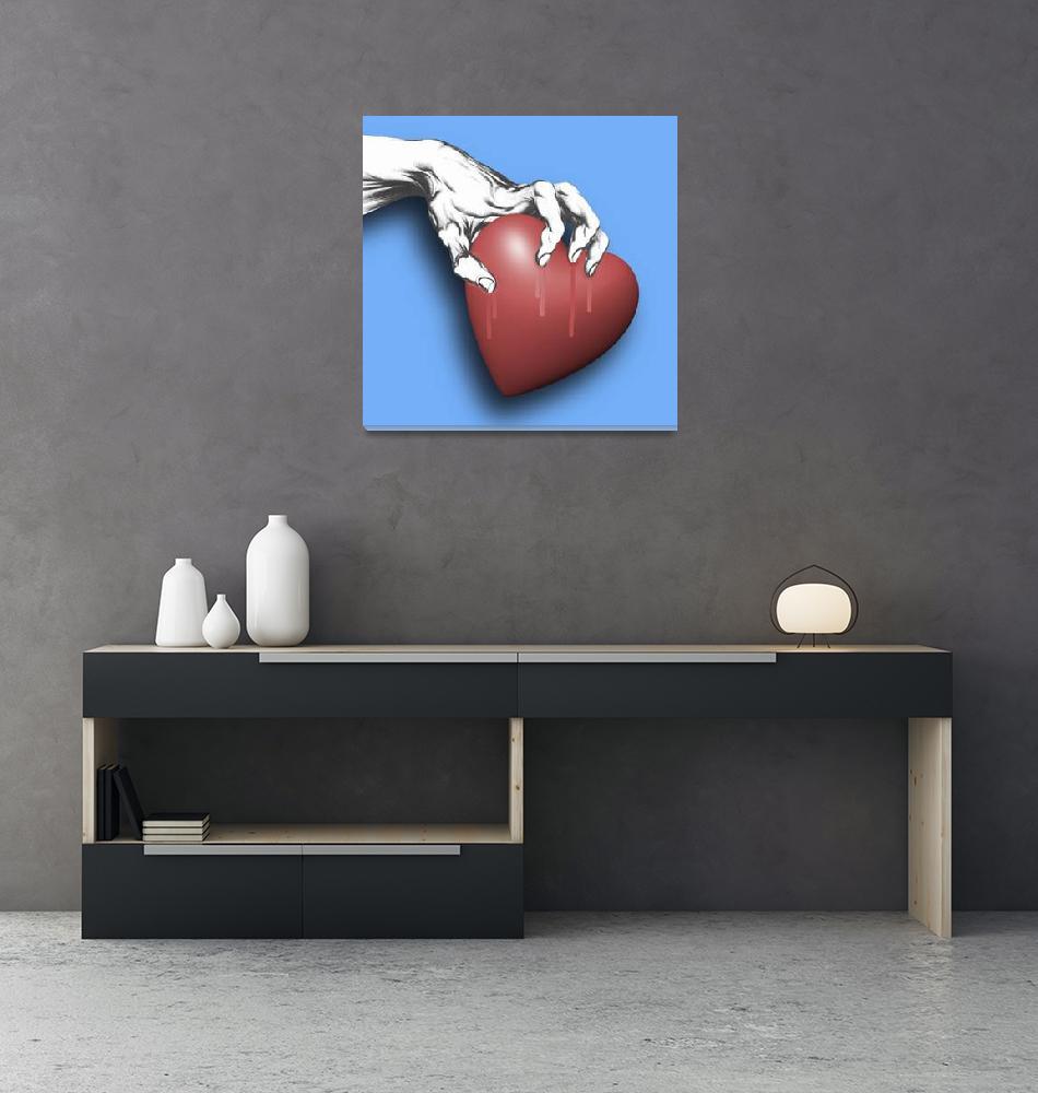 """Heart Series Love Clawed Hearts""  (2018) by RubinoFineArt"