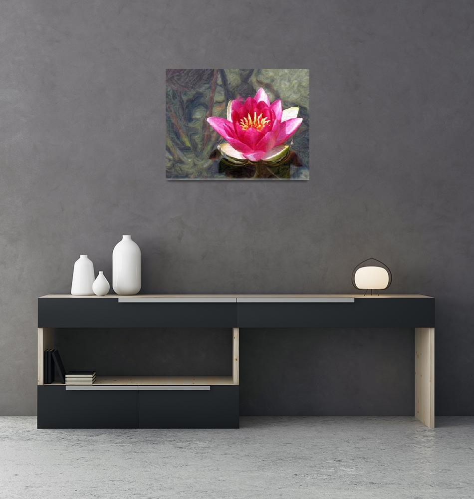 """""""Water Lily #3""""  (2010) by petehamillcollection"""