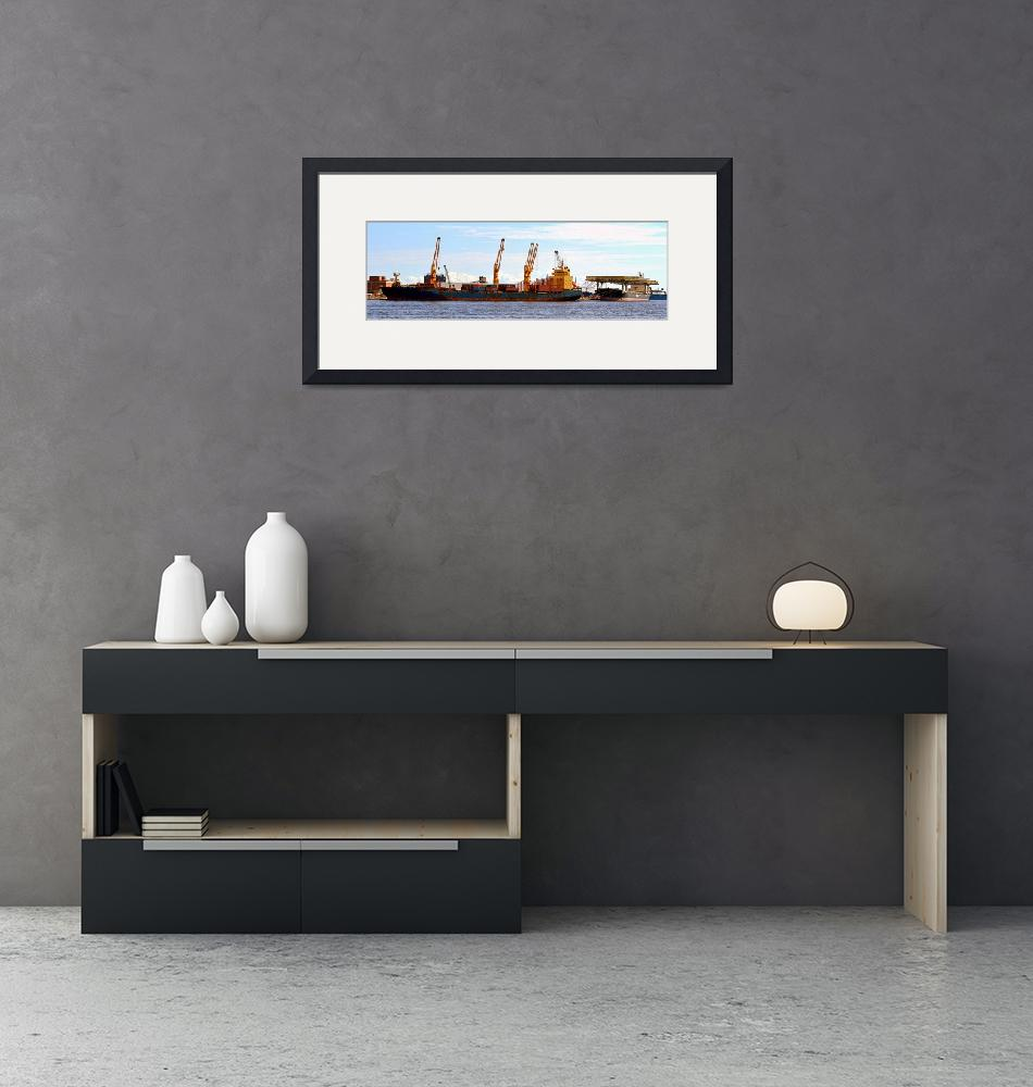 """""""Shipping and Cranes in Baltimore, Maryland""""  by Artsart"""