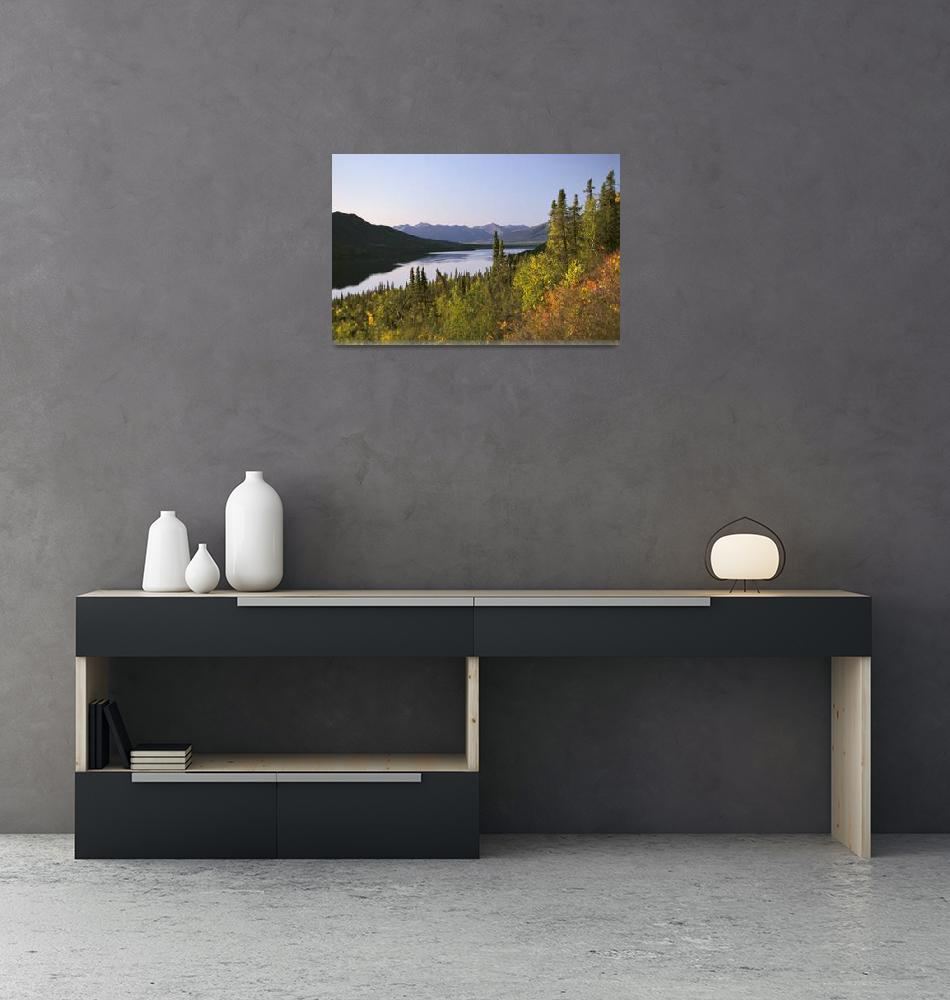 """Selby Lake Brooks Range Fall Scenic Arctic AK Gate""  by DesignPics"