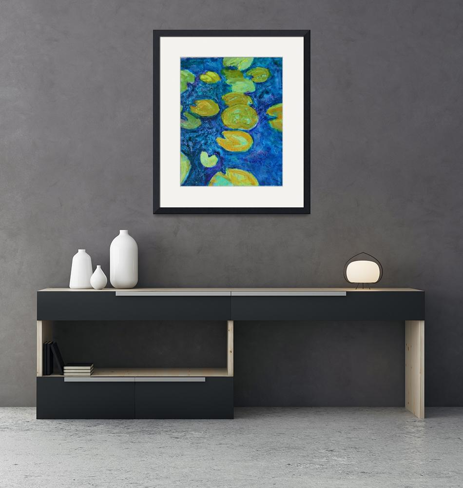 """Turquoise Waters 2, Abstract Waterlily Series""  by schulmanart"