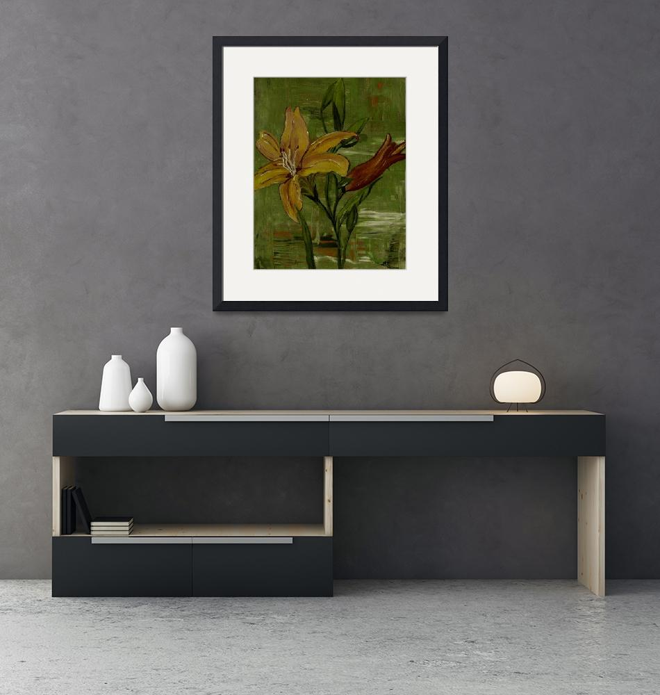 """""""lilies in the pond""""  (2013) by elaineart"""