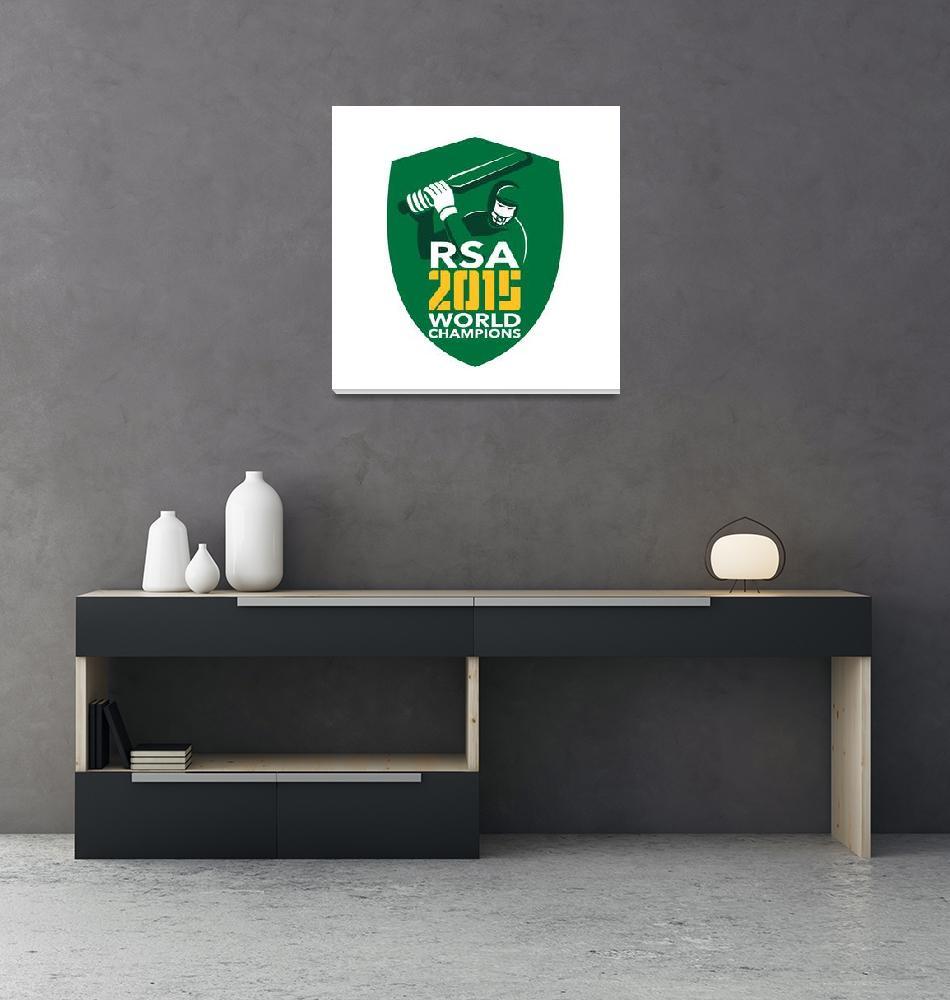 """South Africa Cricket 2015 World Champions Shield""  (2015) by patrimonio"