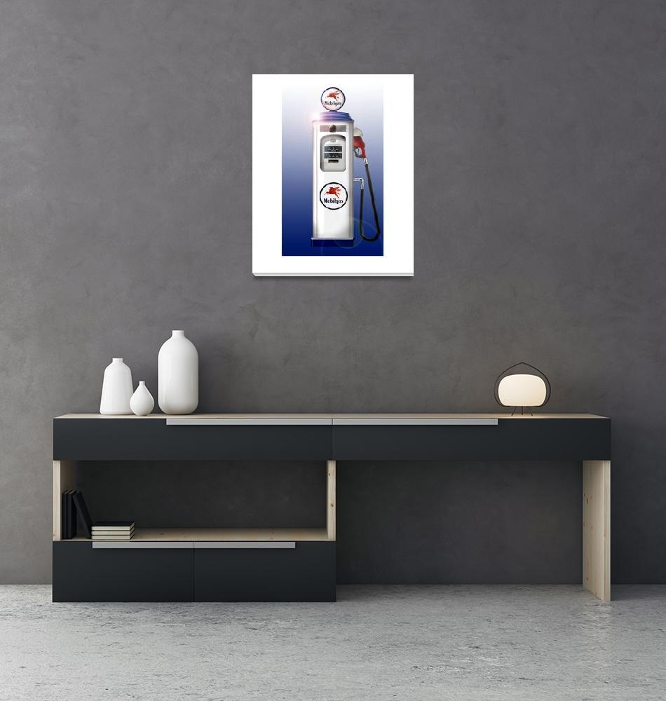 """""""Vintage Gasoline Pump 1129""""  (2007) by ROUTE329ART"""
