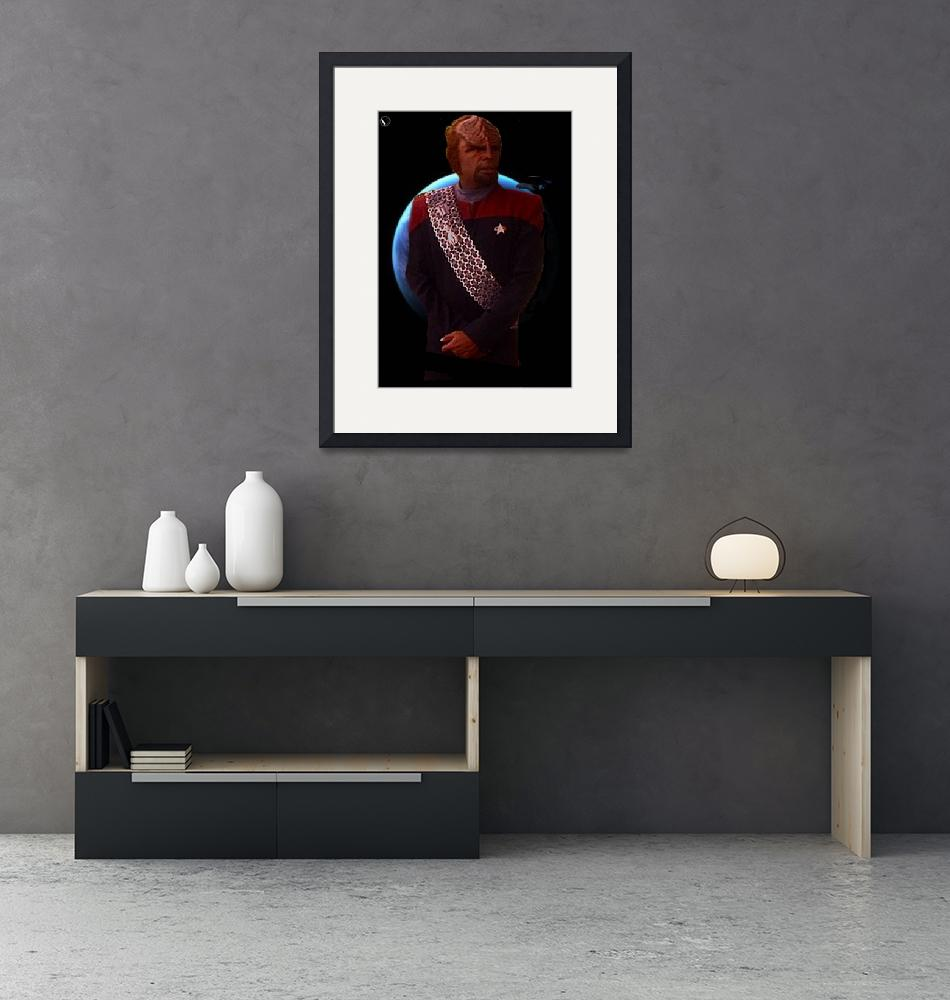 """""""Worf_DS9_Poster3""""  (2013) by NightwingEPub"""