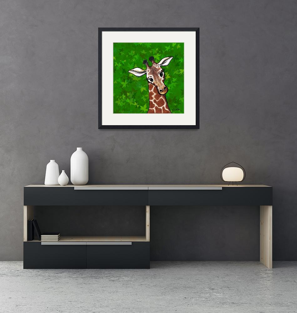 """Giraffe In Green""  (2007) by KiniArt"