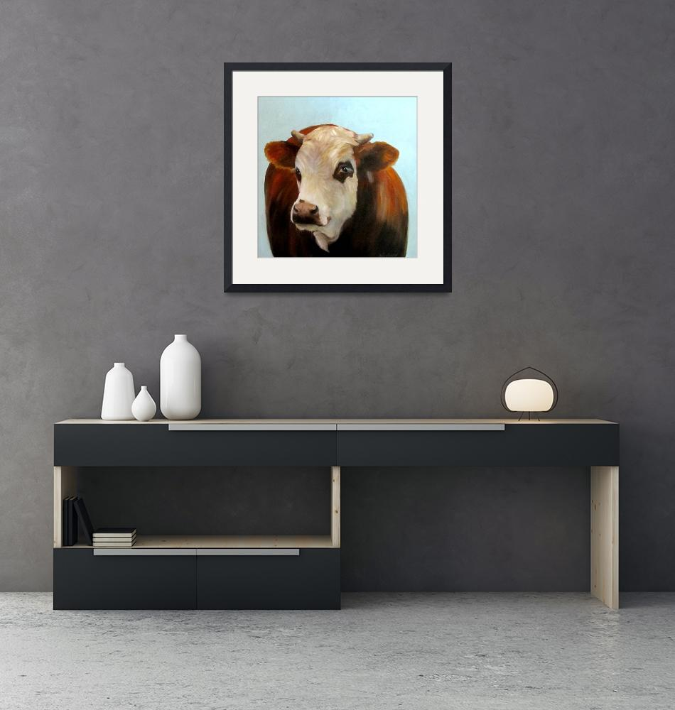 """""""Daisie Cow Painting""""  (2012) by CheriWollenbergArt"""