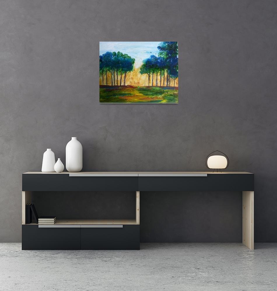 """Tall Trees Of Georgia""  (2008) by reneefauvestudio"