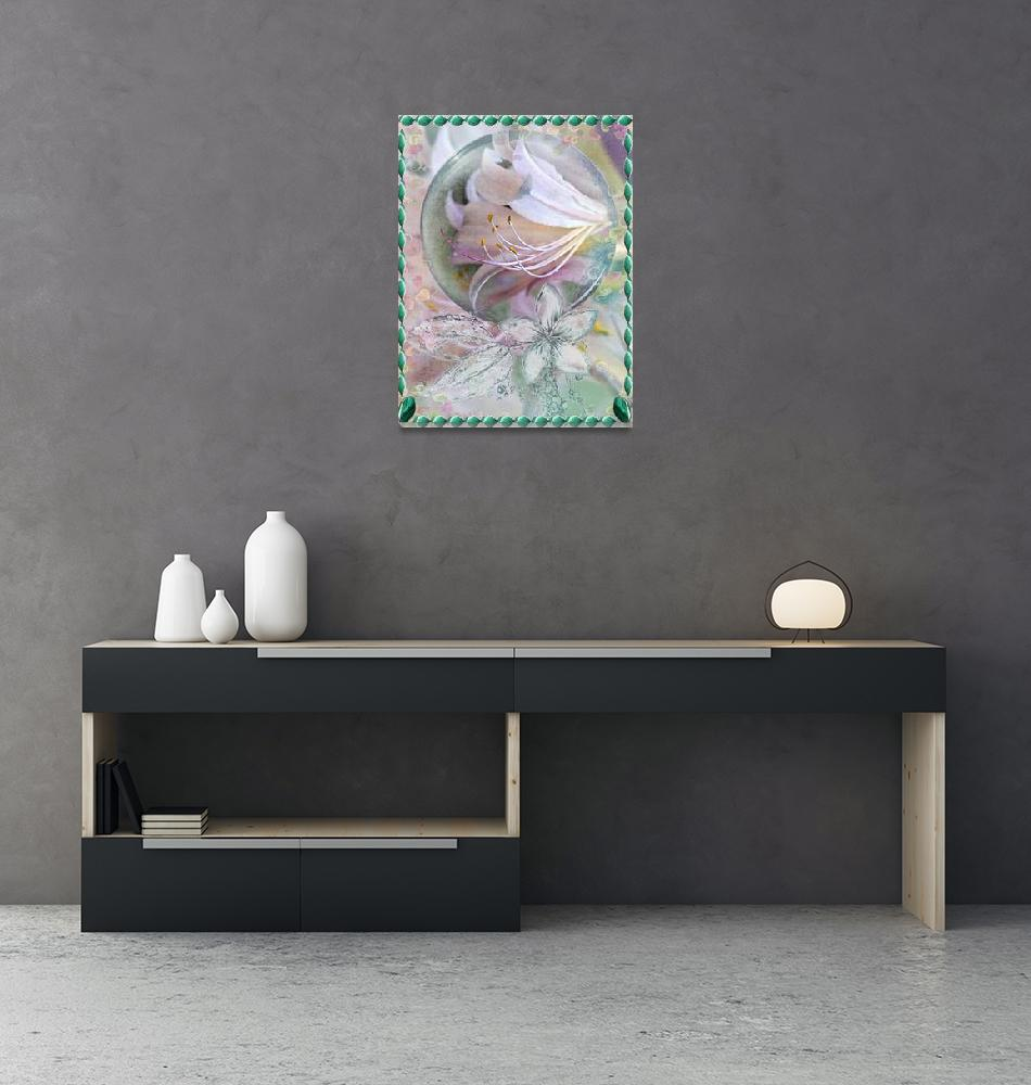 """photostudio_1584330206583 Lily in Mint with Frame""  (2020) by spops"