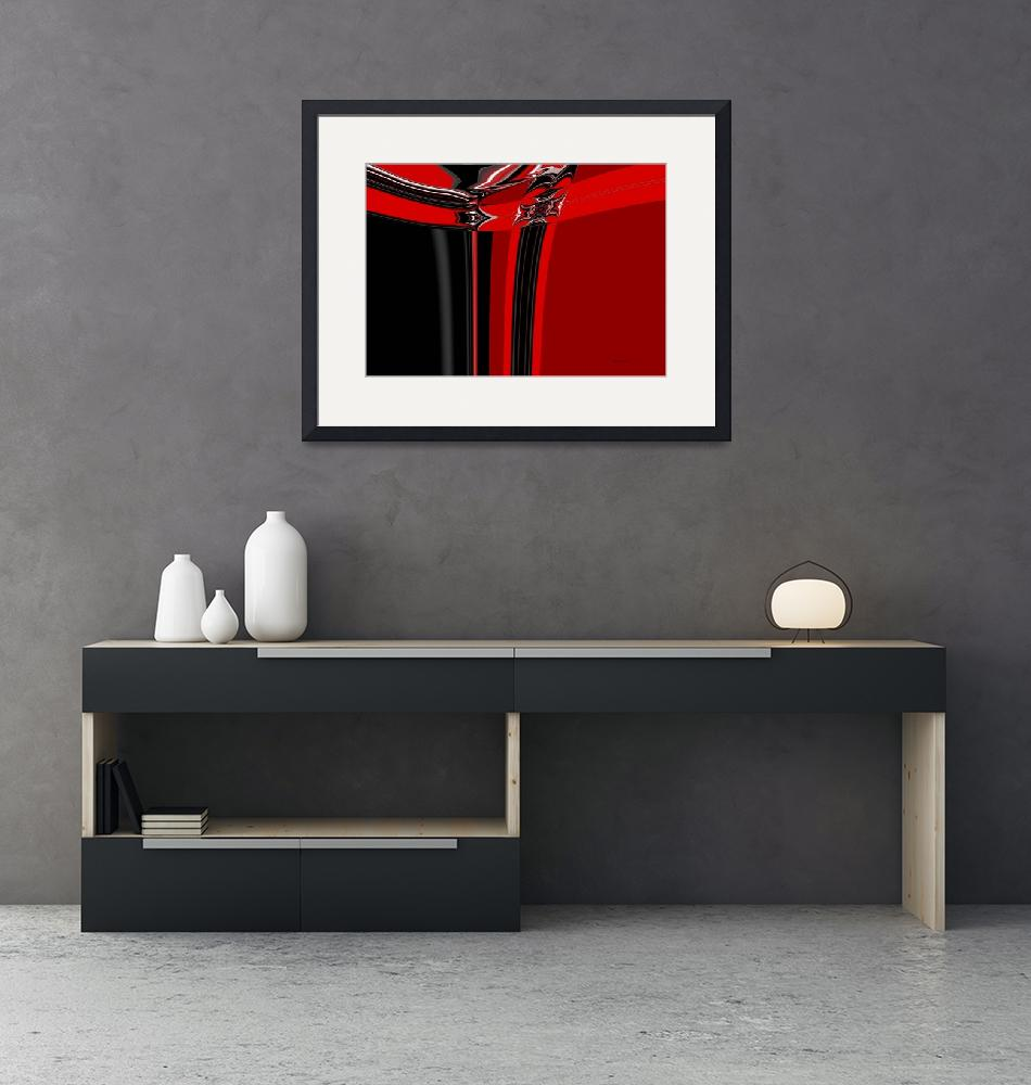 """19-red-black-modern""  (2008) by shanmaree"
