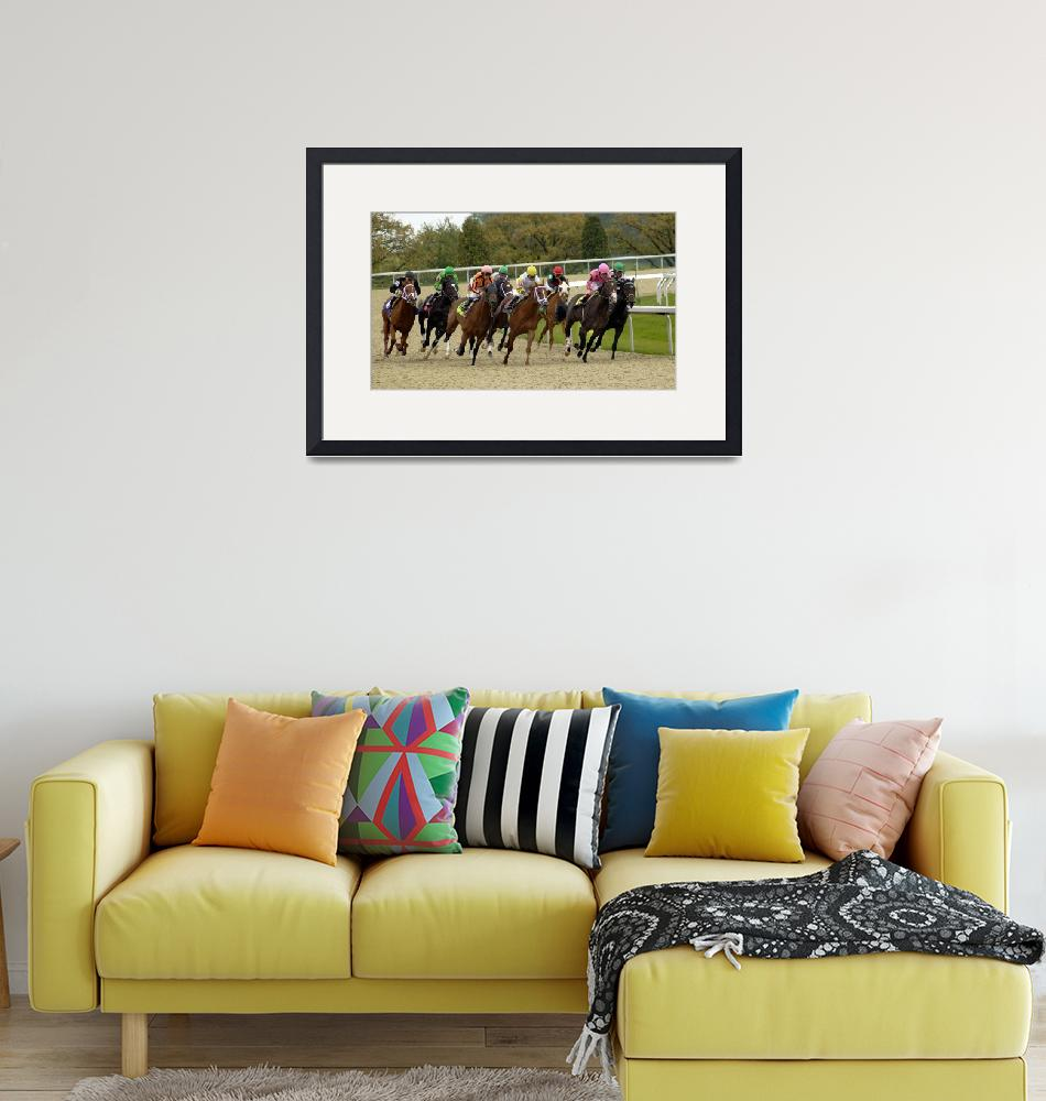 """""""Thoroughbred Horse Race 8383""""  by CooperSlay"""