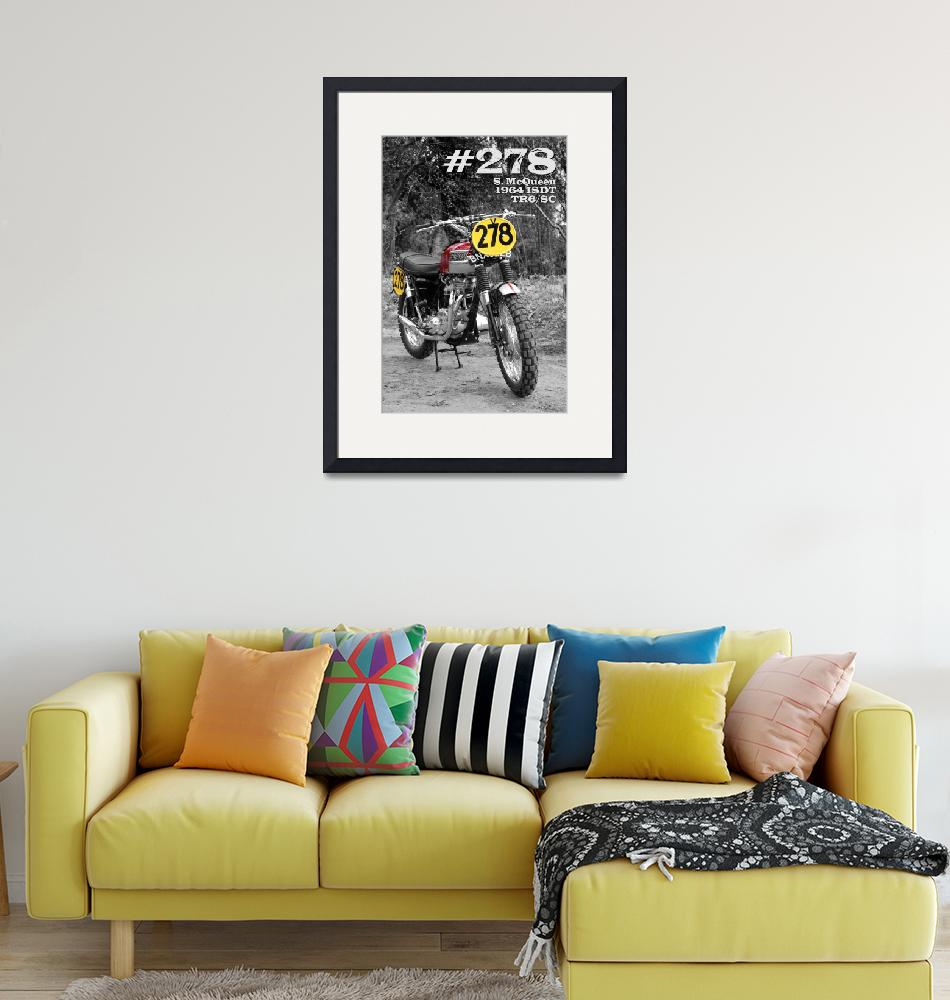 """""""No 278 The McQueen ISDT Motorcycle""""  by mark-rogan"""