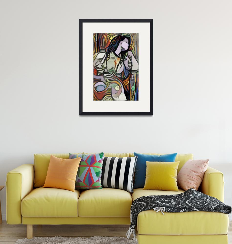 """""""Sleeping Woman Picasso Style Wall Art Painting"""" (2021) by MillionDollarArt"""