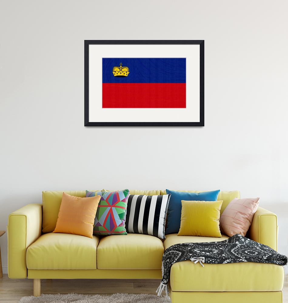 """""""Flag of Liechtenstein ,  County Flag Painting ca 2""""  by motionage"""