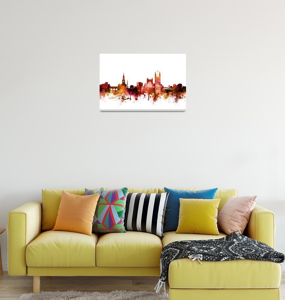 """Bath England Skyline Cityscape""  (2018) by ModernArtPrints"