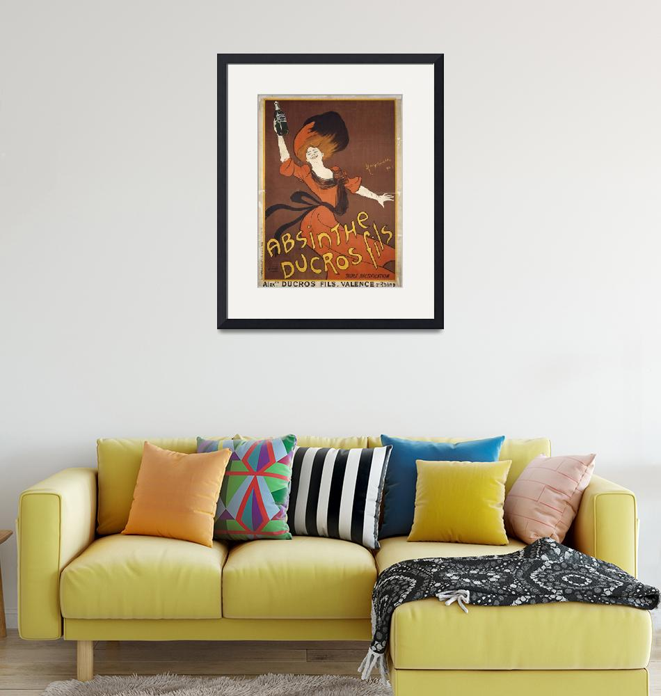 """""""Absinthe Ducros Fils by Cappiello Vintage Poster"""" by FineArtClassics"""