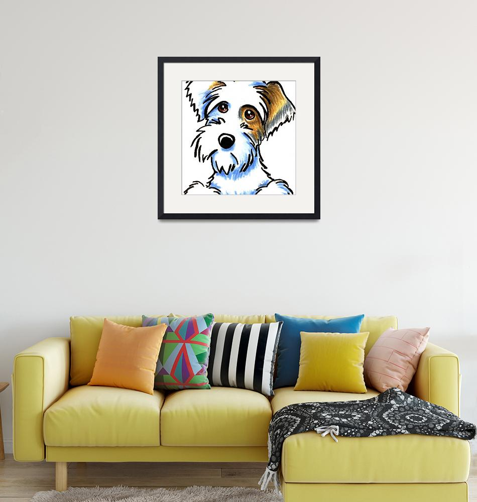 """Badger Sealyham Terrier""  (2012) by OffLeashArt"