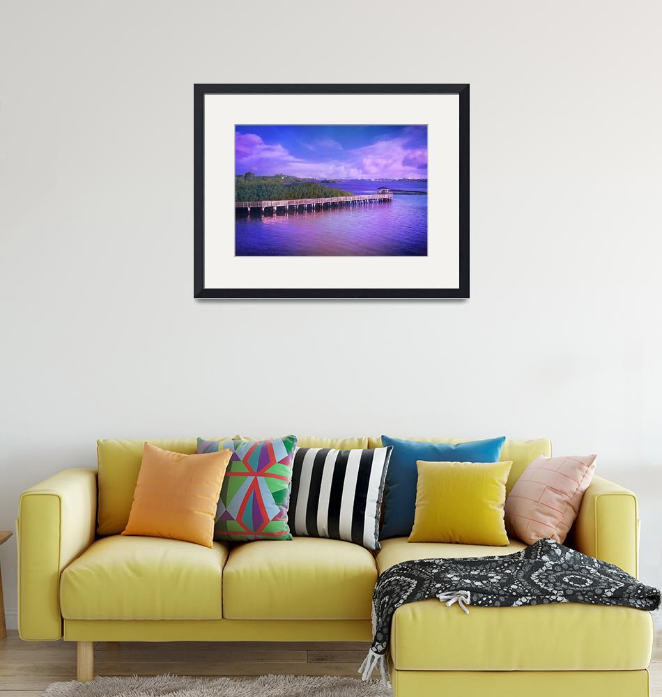 """""""Lovely Light on the Intracoastal Waterway""""  (2015) by LynnBauer"""