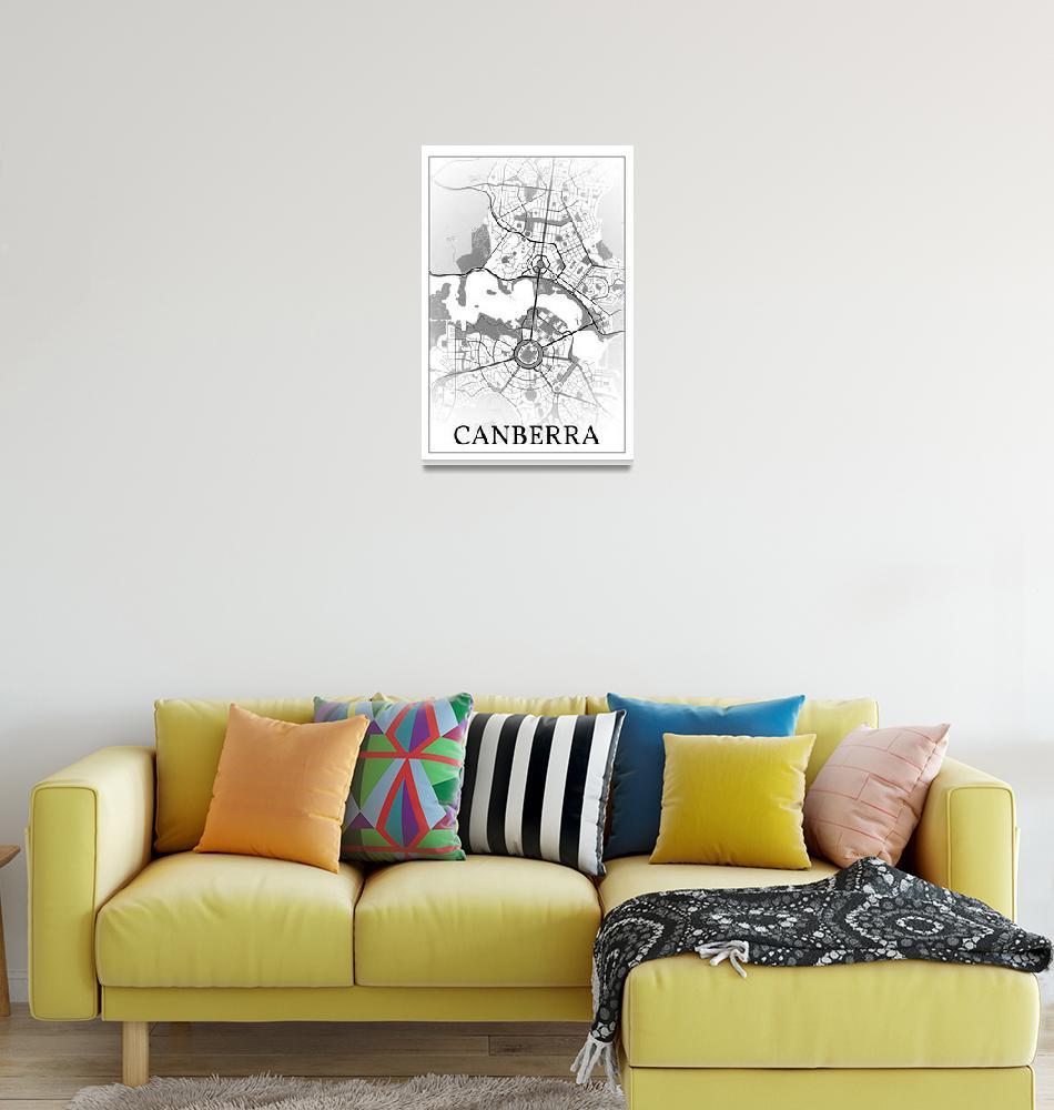 """Canberra, Australia, city map print.""  by dandistudio"
