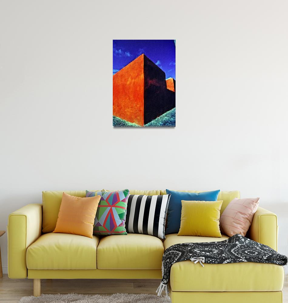 """Orange Wall, Blue Sky""  (1989) by JoaoPonces"