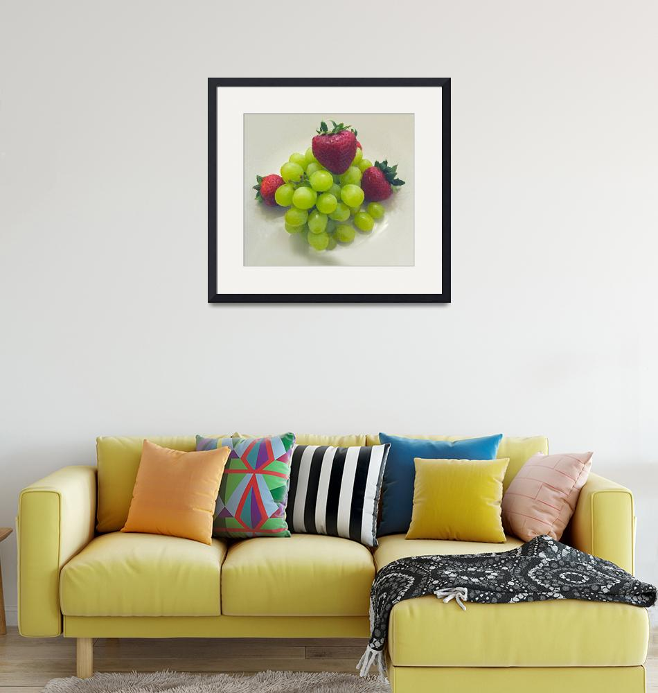 """""""Strawberries and Grapes""""  (2009) by patriciaschnepf"""