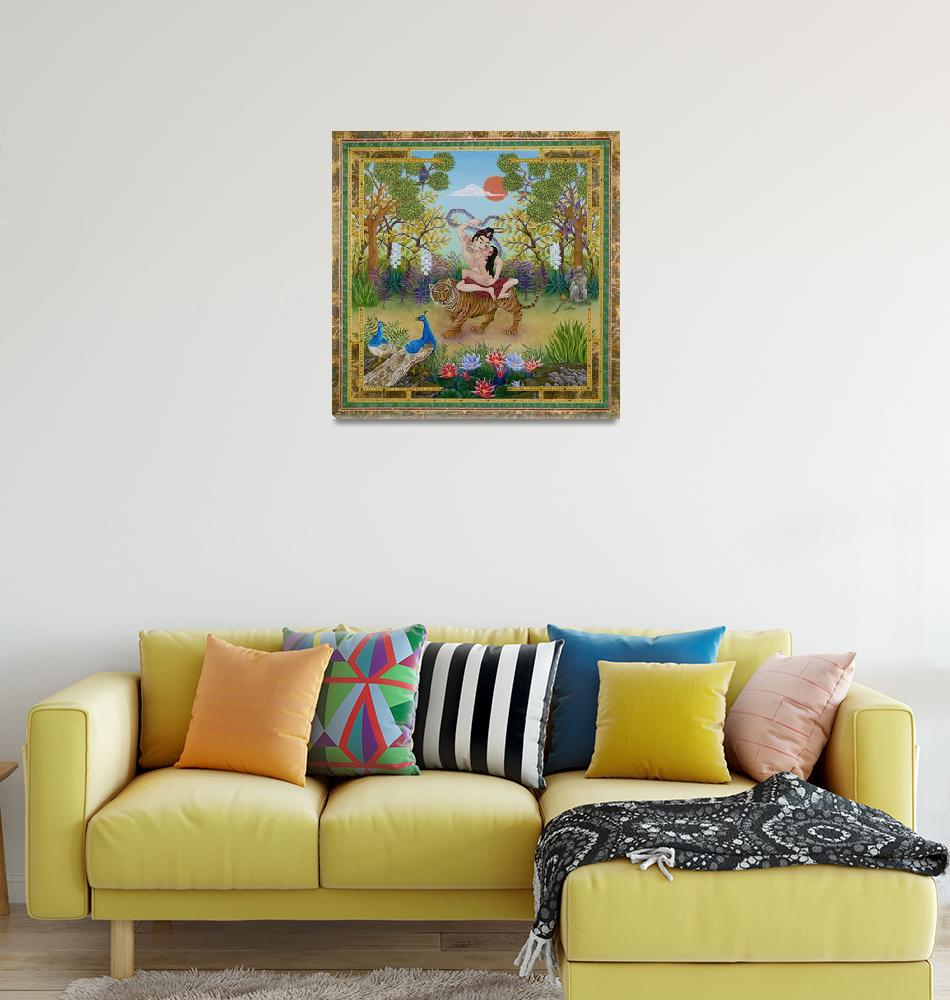 """Dombi and the Dakini""  by MandalasByRampal"
