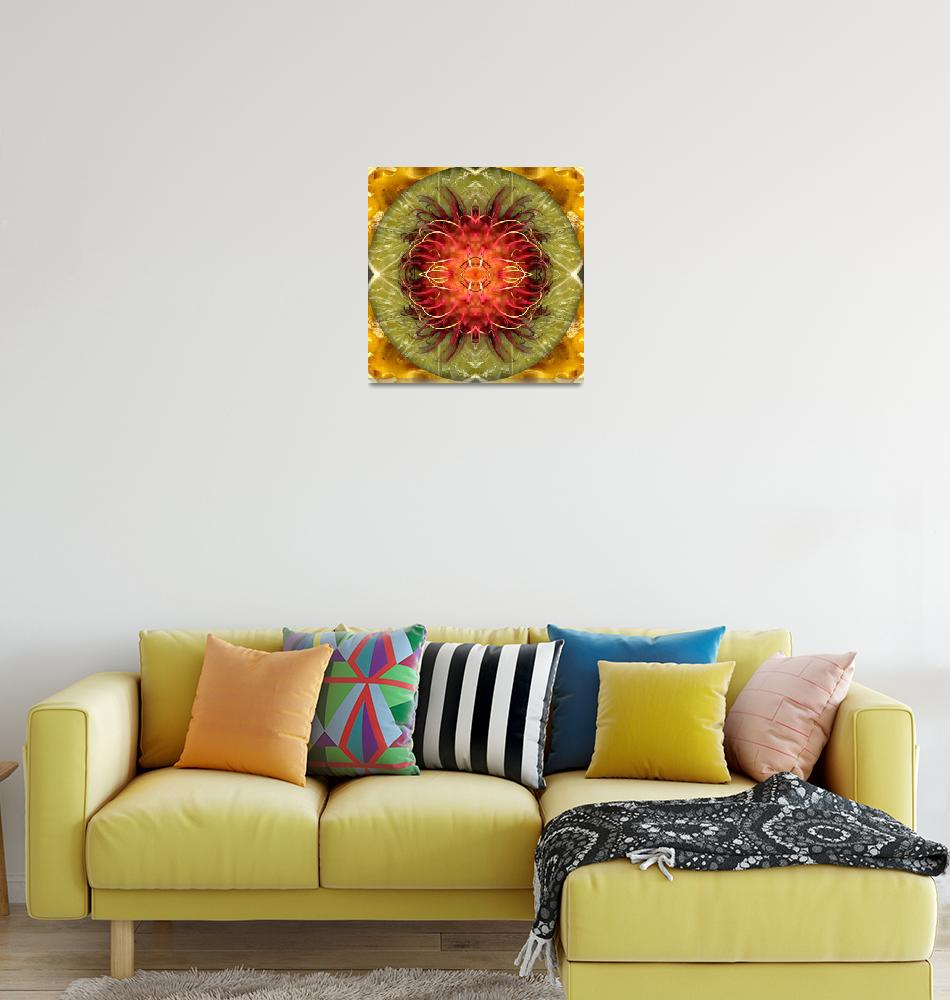 """Fruit mandala - rambutan2""  by belinda"