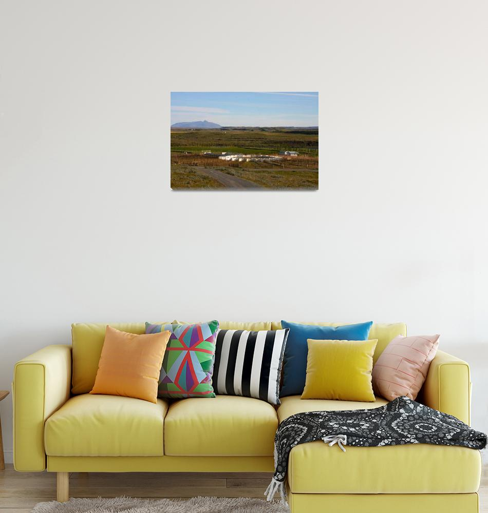 """""""Sheep Corral in Iceland Landscape""""  (2010) by ericalee"""