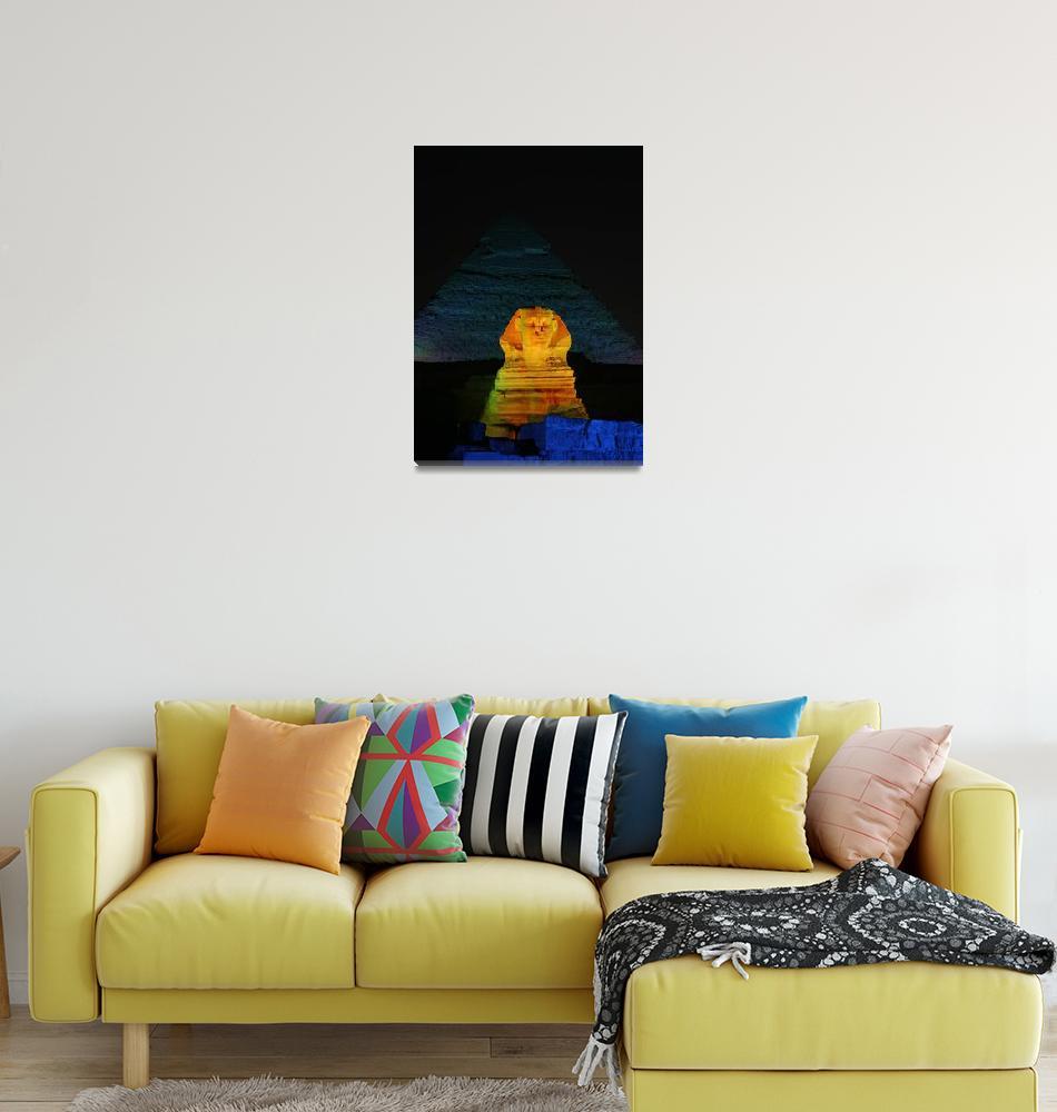 """""""The Golden Sphynx""""  (2008) by DonnaCorless"""