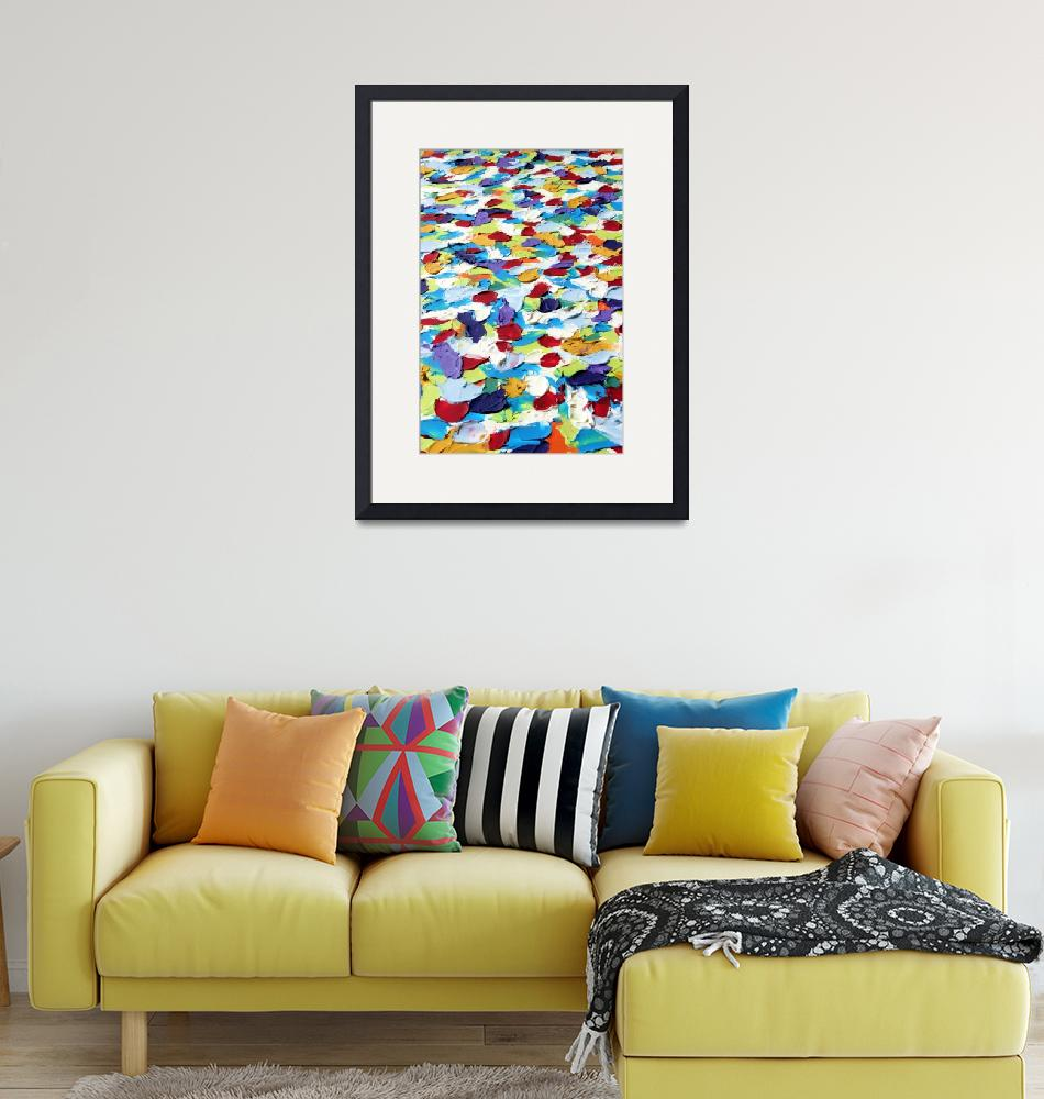 """Abstract Colorful Dots 2"" by LittleArtsyShop"