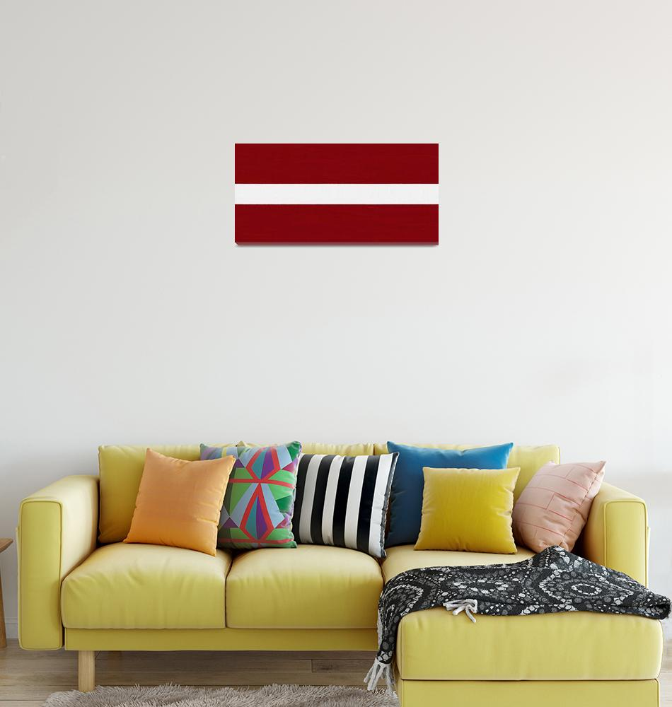 """""""Flag of Latvia ,  County Flag Painting ca 2020 by""""  by motionage"""