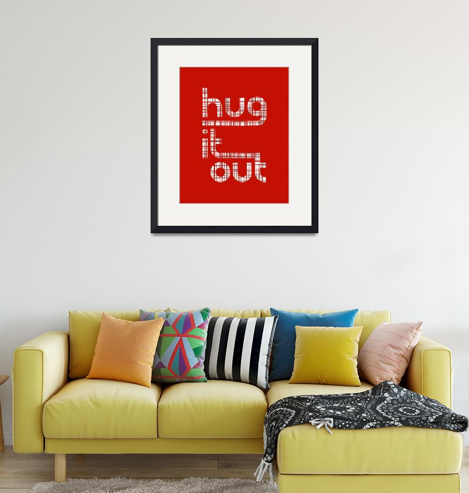 """""""Hug It Out • Crosshatch Red"""" by Logophilia"""