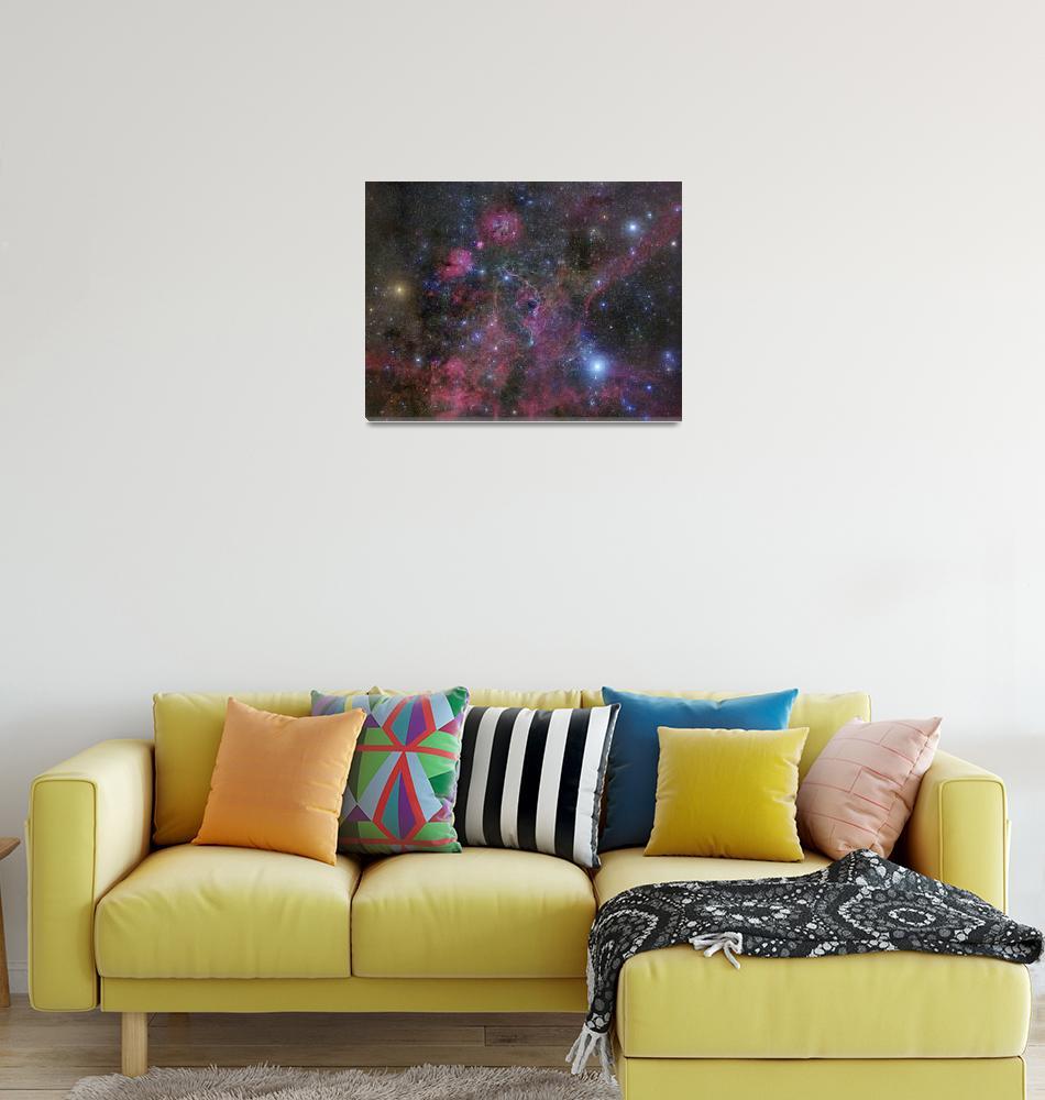 """The Vela supernova remnant""  by stocktrekimages"