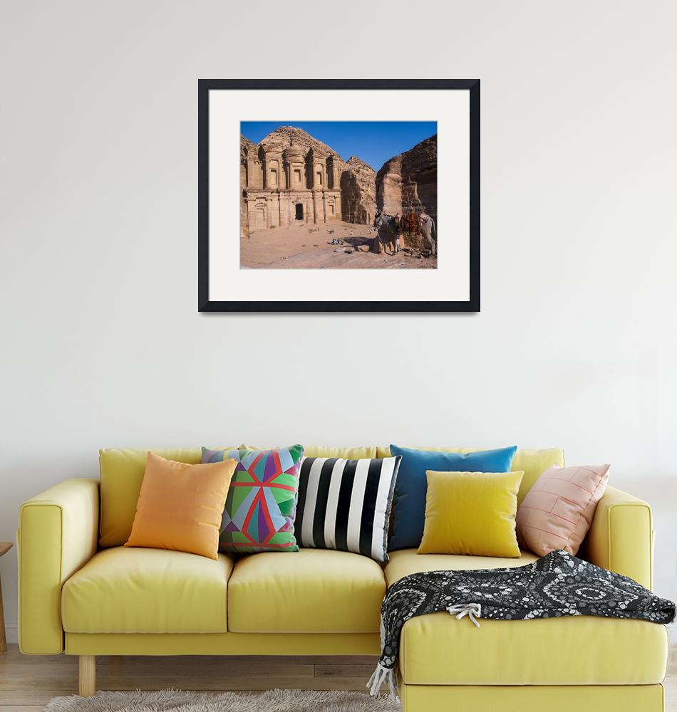 """""""The Monastery in Petra""""  (2019) by raetucker"""