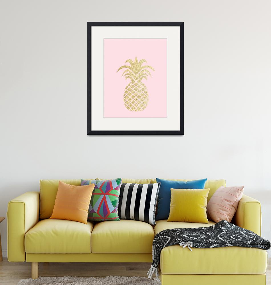 """""""Gold Pineapple Pink"""" by miscstudios"""