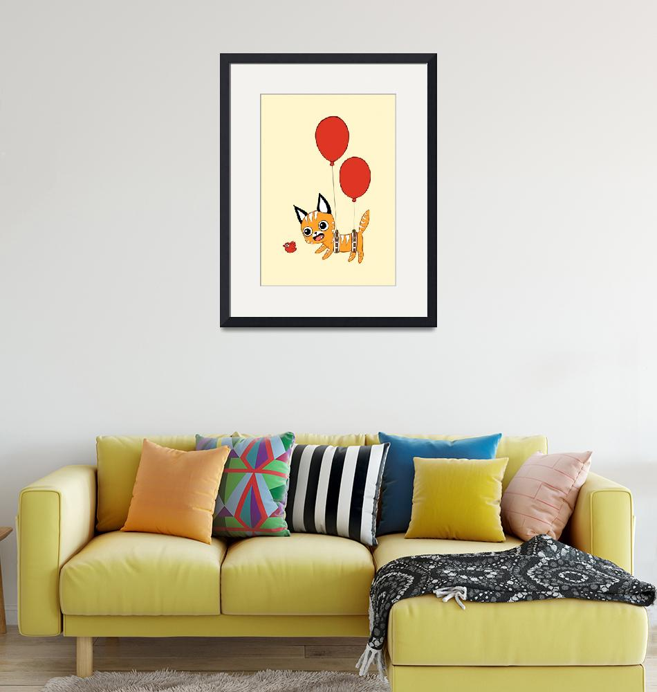 """""""Balloon Cat""""  (2012) by freeminds"""
