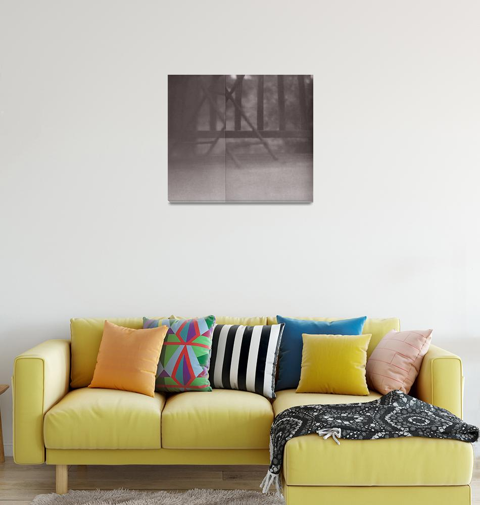 """""""inverted lumen print, deck furniture and railing""""  (2011) by jnanian"""