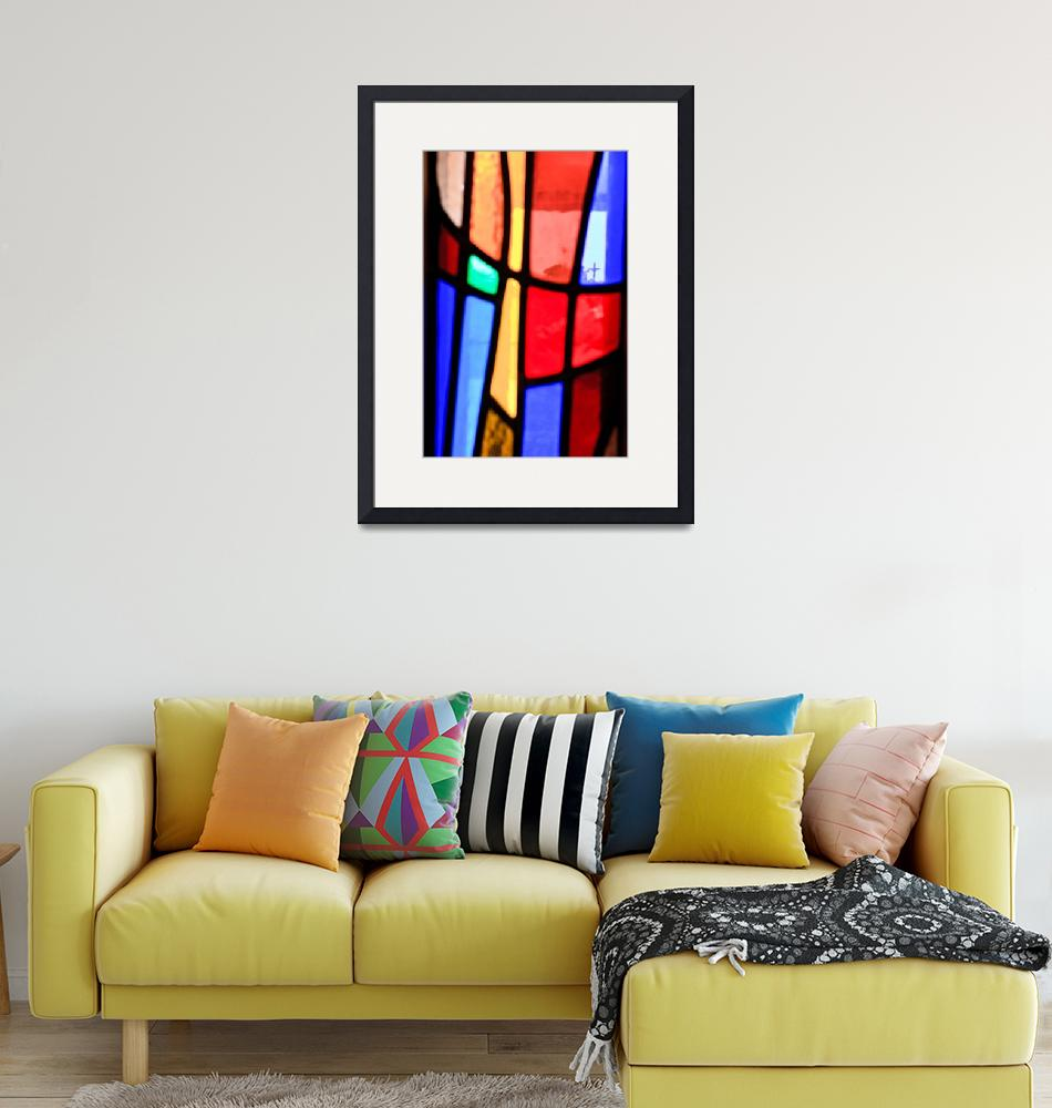 """""""Cross in the stained glass 20910""""  (2015) by RJ"""