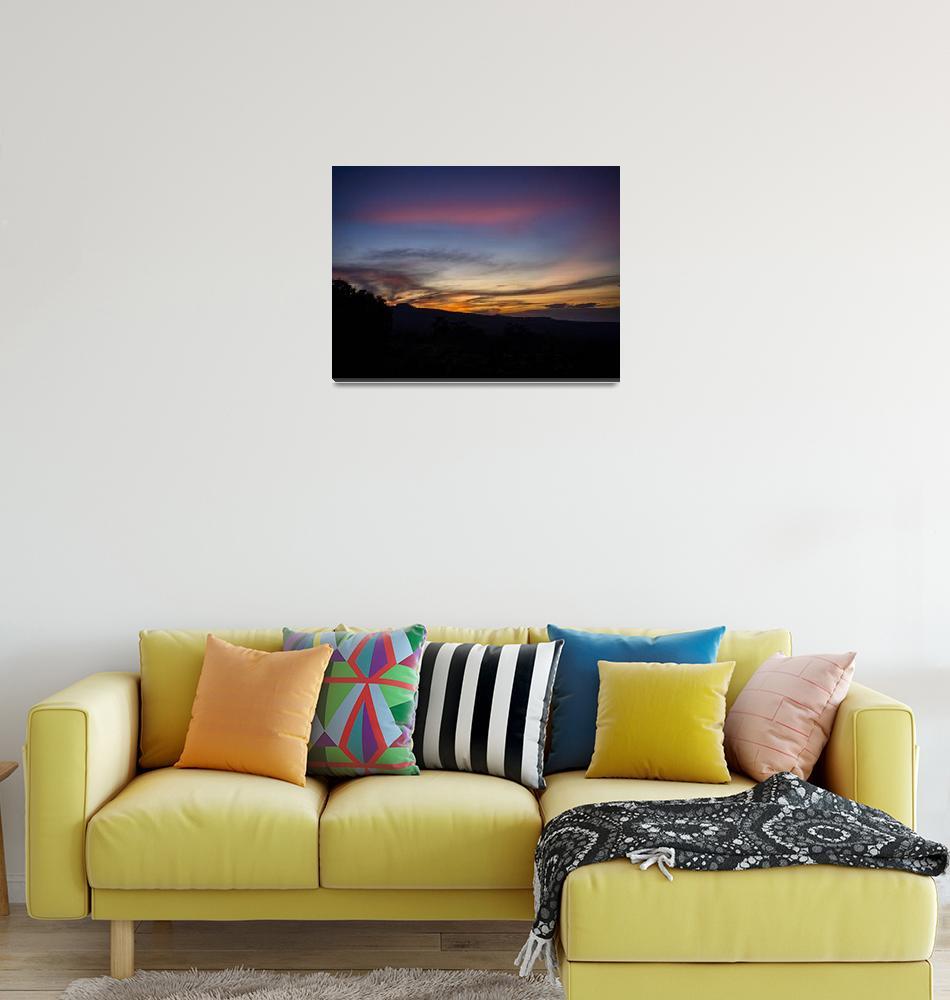 """Sunset from the Rinjani Vulcano on Lombok Indonesi""  by Rikxpix"