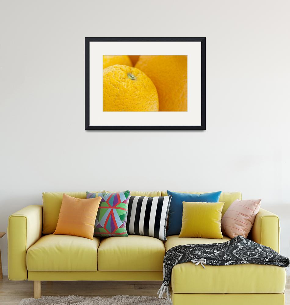 """""""Closeup of the oranges fruits"""" (2011) by igorsin"""