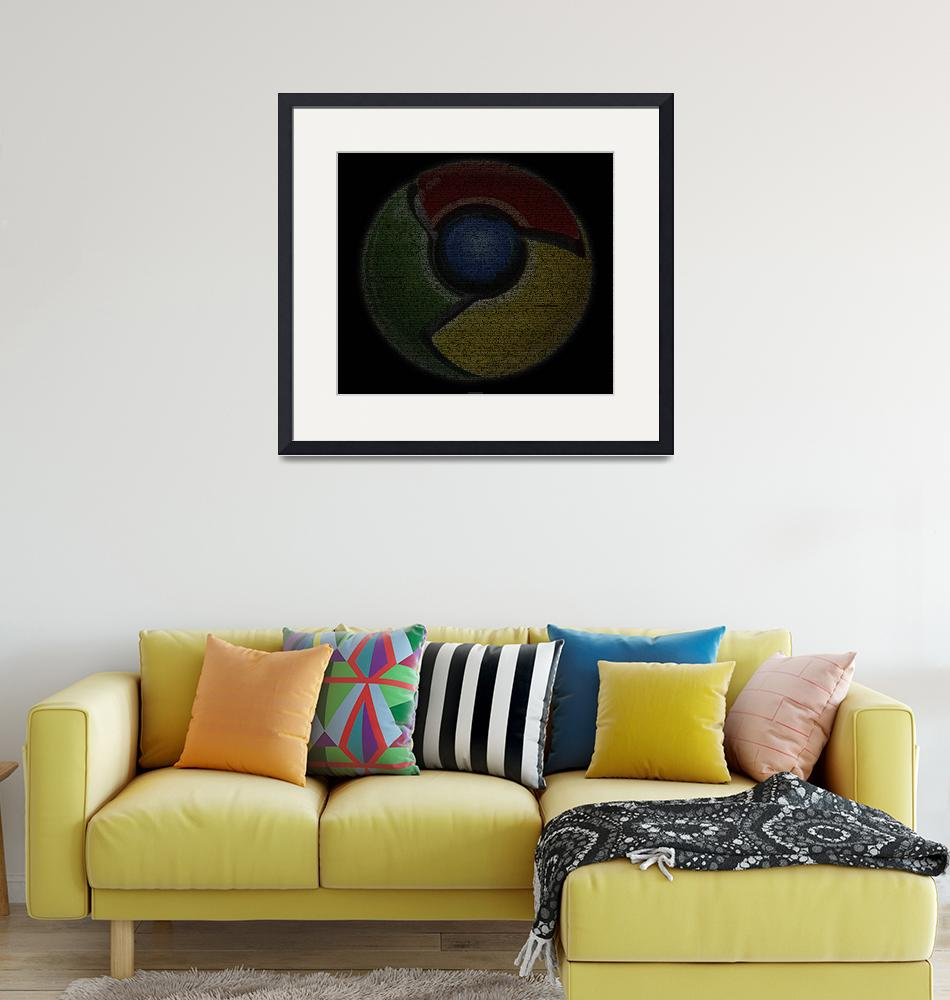"""""""Chrome Poster from Source Code""""  (2010) by 0xfe"""