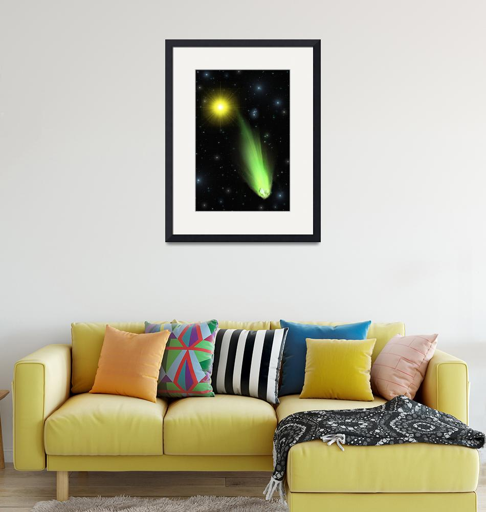 """""""Comet Lulin""""  (2009) by RandallKlopping"""