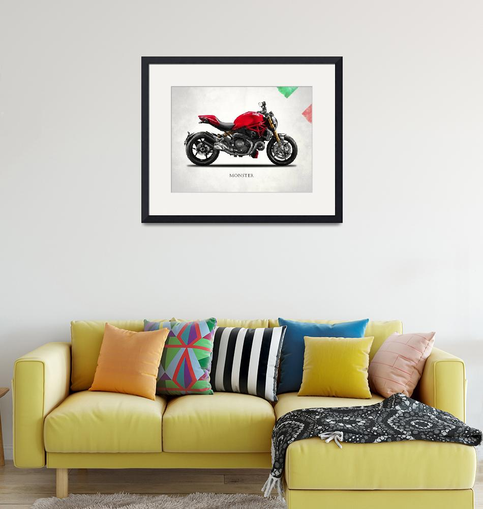 """Ducati Monster 1200""  (2015) by mark-rogan"