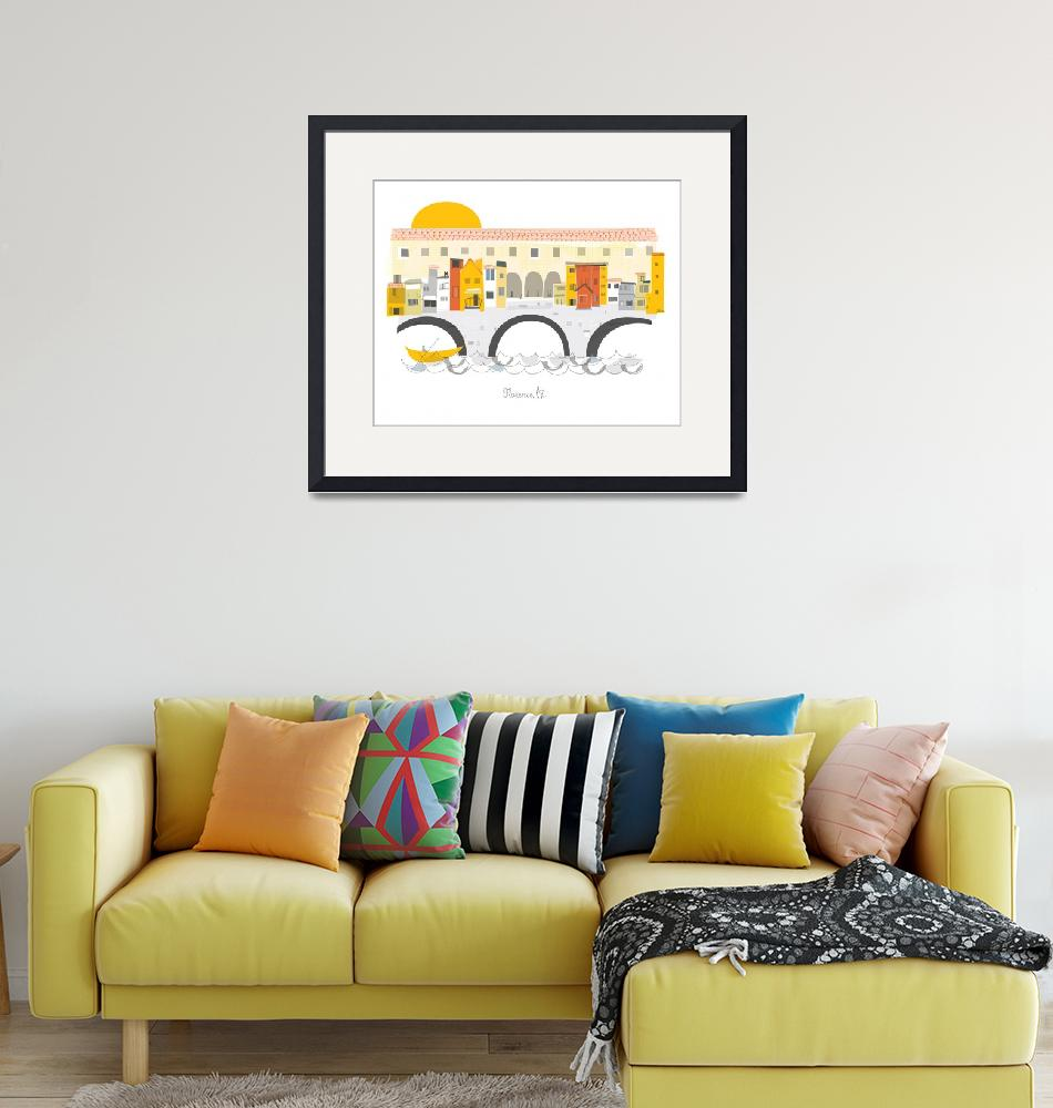 """""""Florence Modern Cityscape Illustration""""  by AlbieDesigns"""