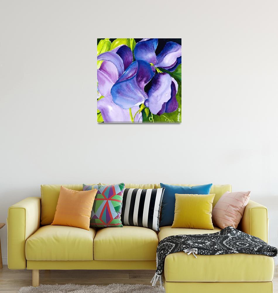 """Purple Sweet Peas""  (2009) by janlan44"