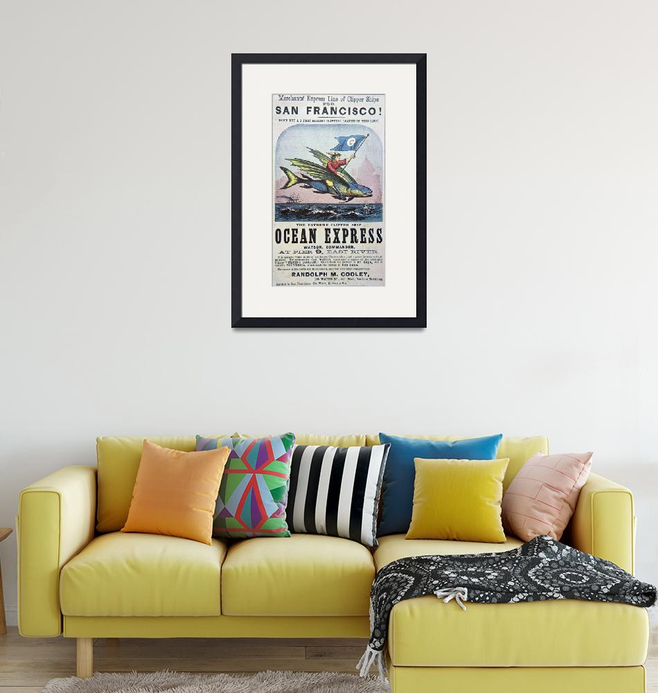 """Ocean Express Clipper Ship Vintage Advertisement""  by fineartmasters"