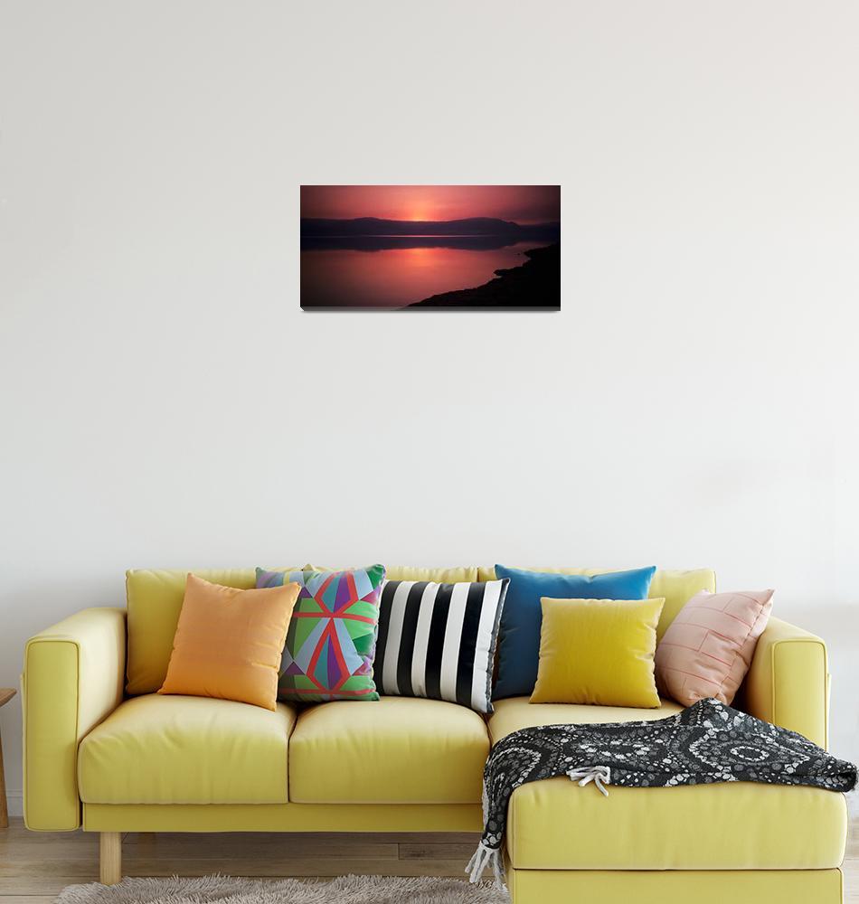 """""""Dead Sea Sunrise""""  (1985) by rik"""